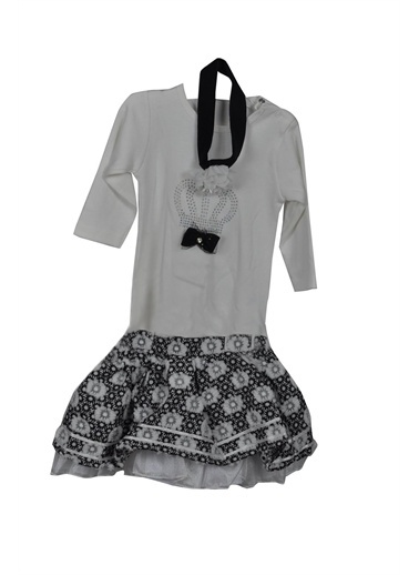 Tomuycuk Etekli 2 Li Takım Kız Bebek Giyim Siyah